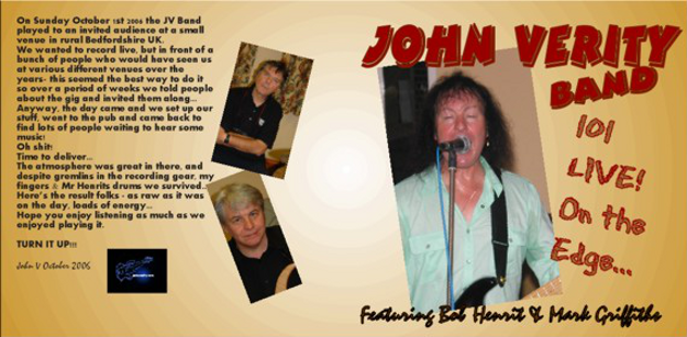 John Verity band Live 101 -  Buy online - NOW!