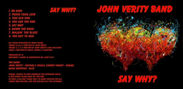 John Verity band - Say Why? - Buy online - NOW!
