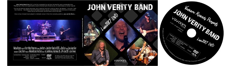 John Verity band Live 2017 DVD