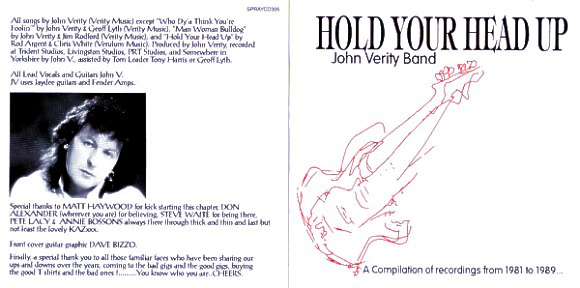 John Verity Band - HOLD YOUR HEAD UP - CD
